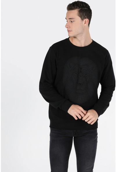 Colins Regular Fit Erkek Siyah Sweatshirt