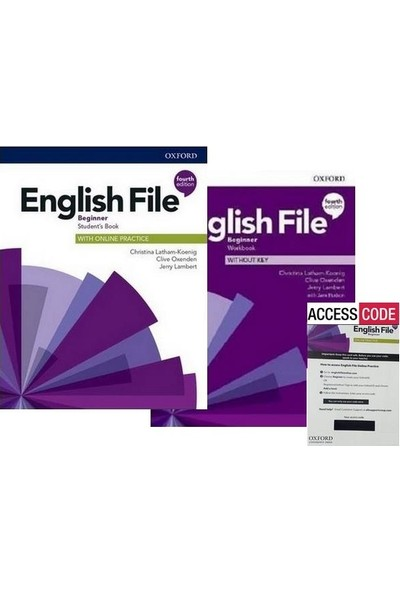Oxford English File Beginner 4th. (Student's Book+Workbook+Access Code)