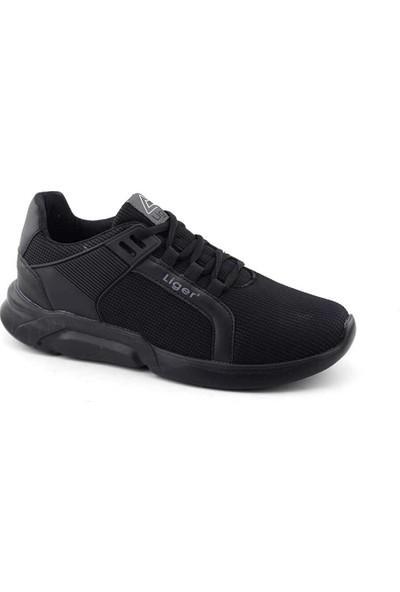 Liger 3002 Erkek Spor Ayakkabı-Siyah Siyah