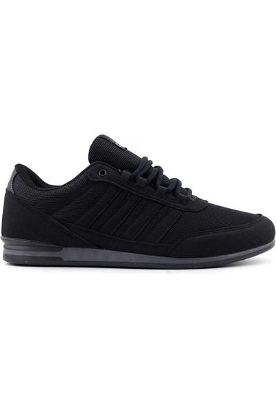 Liger 3018 Erkek Spor Ayakkabı-Siyah Füme