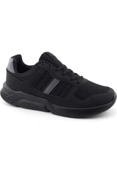 Liger 3027 Erkek Spor Ayakkabı-Siyah Siyah