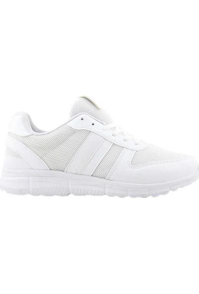 Liger 3207 Kadın Spor Ayakkabı-Beyaz Beyaz