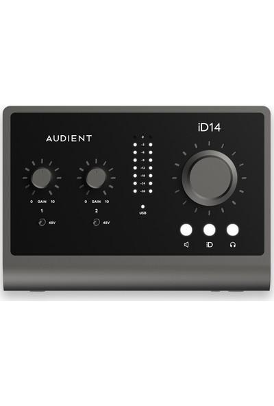 Audient İD14 Mkıı Yüksek Kalite Usb-C Ses Kartı: 10-Giriş/6-Çıkış 24BIT/96KHZ Burr Brown Ad/da Çeviriciler + 2x Class-A Audient Konsol Mikrofon Preamp + Jfet Dı + 8-Kanal Adat Girişi