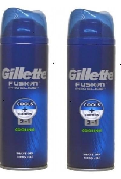 Gillette Fusion Proglide Serinletici 200 ml Tıraş Jeli x 2 Adet