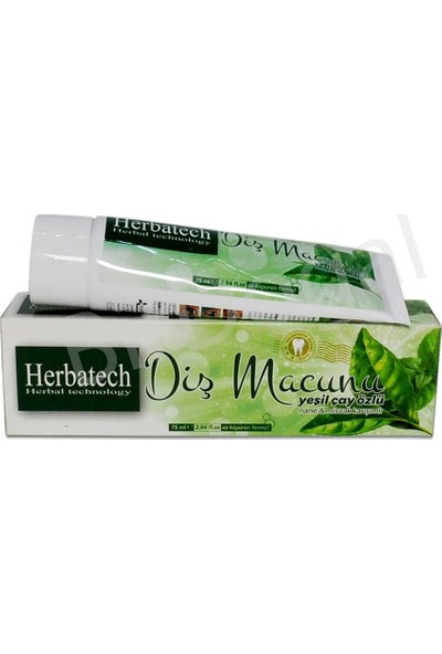 Herbatech Yeşil Çaylı Diş Macunu 75 ml