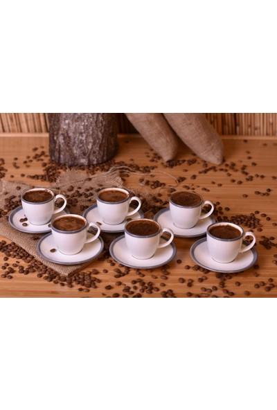 Bambum Aria 6 Kişilik Kahve Fincan Takımı Gri