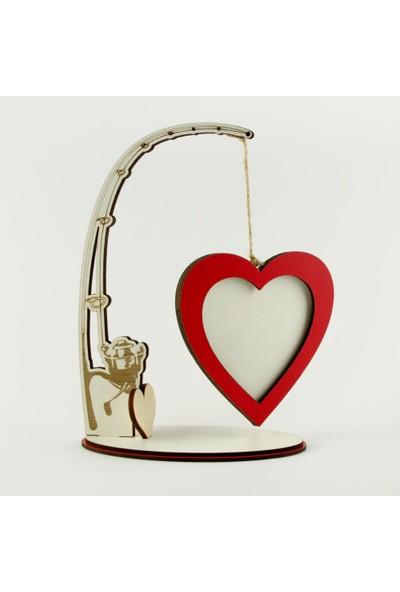 Bijuteri Net Kalp Figürlü Ahşap Çerçeve