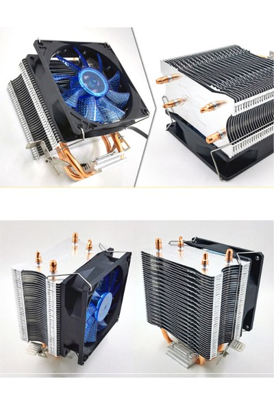 Snowman M200 Mavi Ledli Universal Cpu Fan Amd /intel