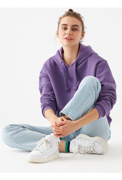 Mavi Kadın Kapüşonlu Mor Sweatshirt 167299-33536