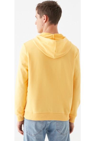 Mavi Erkek Mavi Mühür Logo Baskılı Sarı Sweatshirt 065753-33408