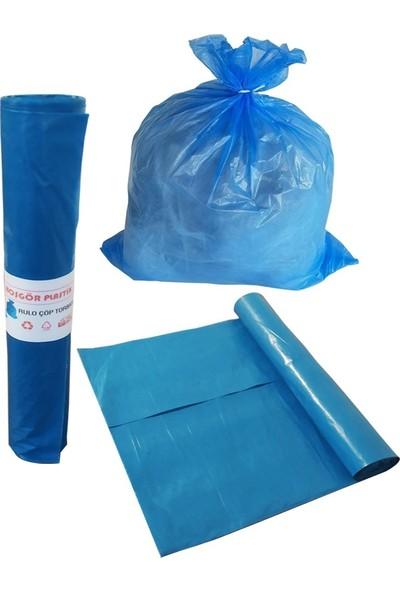 Hoşgör Plastik Çöp Torbası Poşeti Mavi Rulo 72X95 Battal (Koli:20 Rulo)