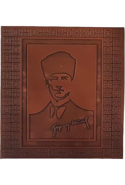 Mlstil Atatürk Portresi Bakır Kahverengi Dikdörtgen 26X28 cm Tablo