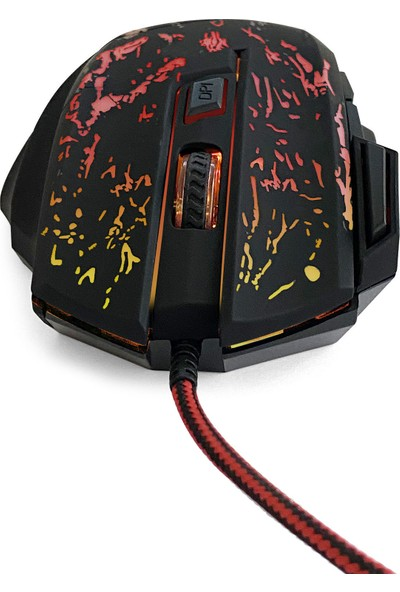 MF Product Strike 0591 Rgb Kablolu Gaming Mouse Siyah