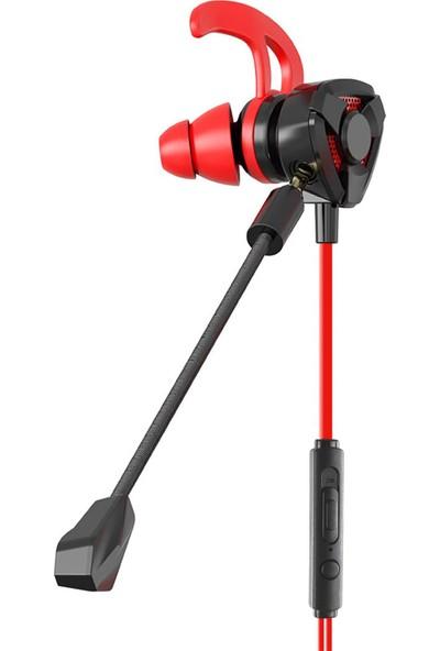 MF Product Strike 0645 Mikrofonlu Kablolu Kulak İçi Oyuncu Kulaklığı Kırmızı