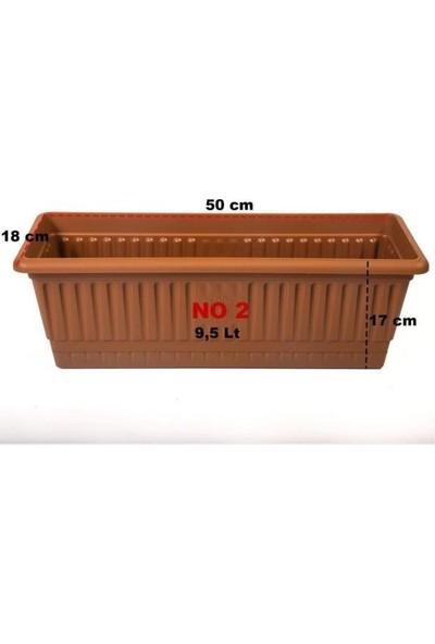Hak Plastik 2 Adet Hak Plastik Toprak Orta Balkon Saksı