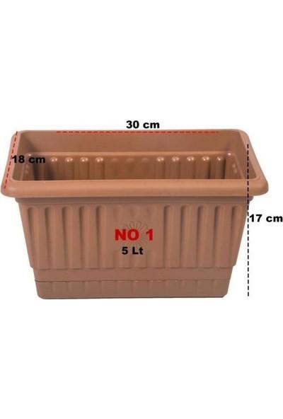 Hak Plastik 4 Adet Hak Plastik Toprak Küçük Balkon Saksı