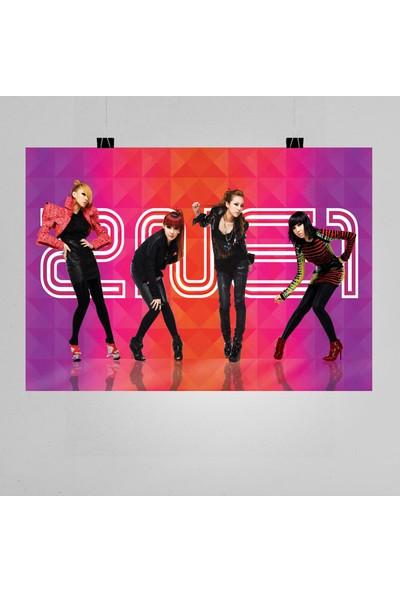 Termofom 2ne1 Müzik Grubu Posteri K Pop Afişleri (50X70 Cm)