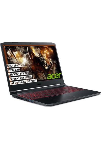 "Acer Nıtro Intel Core i7 10750H 32GB 2TB + 1 TB SSD GTX1660Ti Freedos 15.6""FHD Taşınabilir Bilgisayar NH.Q7PEY.004"