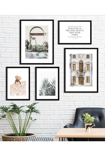 Fabb Home Modern Çerçeveli Poster Tablo Seti (5 Parça)