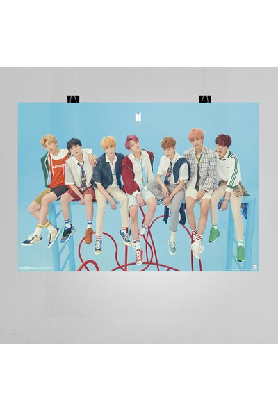 Termofom Bts Müzik Grubu Posteri K Pop Afişleri (70X100 Cm)