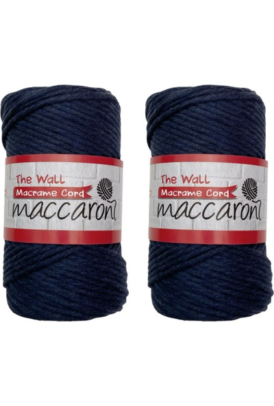 Maccaroni The Wall Macrame 3mm Pamuk Taranabilir Ipi 2'li Set