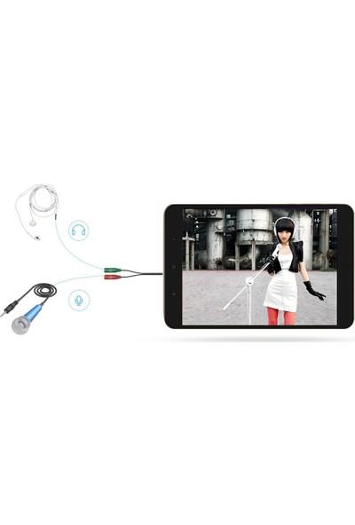Alfais 4745 3.5mm Kulaklık Mikrofon Ayırıcı Çoklayıcı Switch Splitter