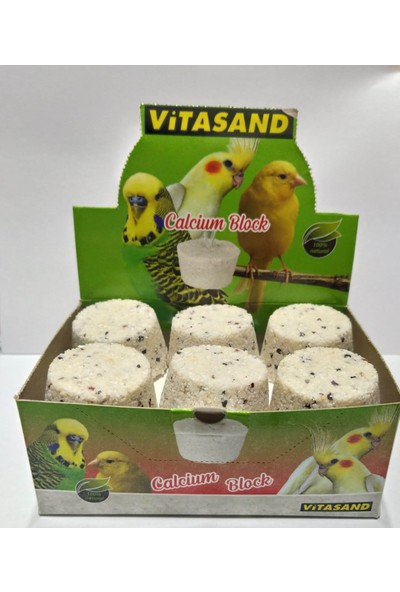 Vitasand Kuşlar Için Kalsiyum Taşı - 6 Adet