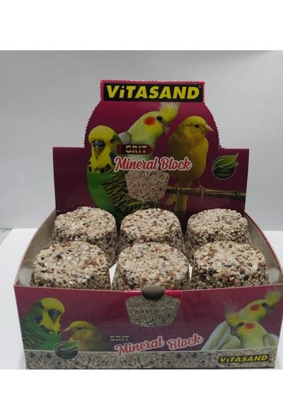 Vitasand Kuşlar Için Mineralli Yemlik Taşı - 6 Adet