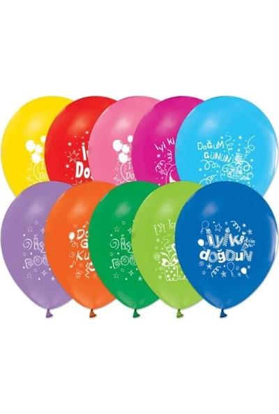 Kullanatparty Iyi Ki Doğdun Baskılı Karışık Renkli Balon 100 Adet