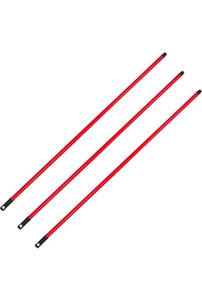 Ihtiyaç Limanı Kırmızı Metal Vidalı Sap Fırça Çekpas Yedek Sapı 3'lü