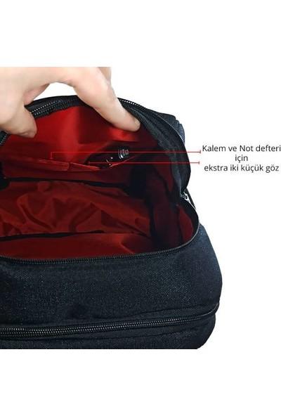 """Destinesia 13"""" Tam Korumalı Özel Seri Business Laptop Notebook Sırt Çantası Siyah"""
