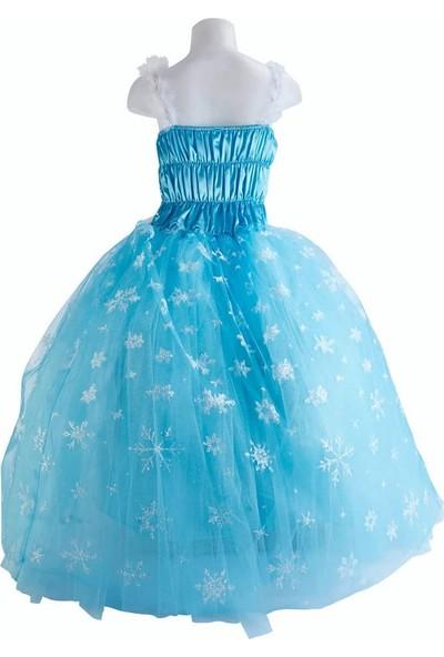 Liyavera Elsa Frozen Karlar Kraliçesi Kız Çocuk Kostümü