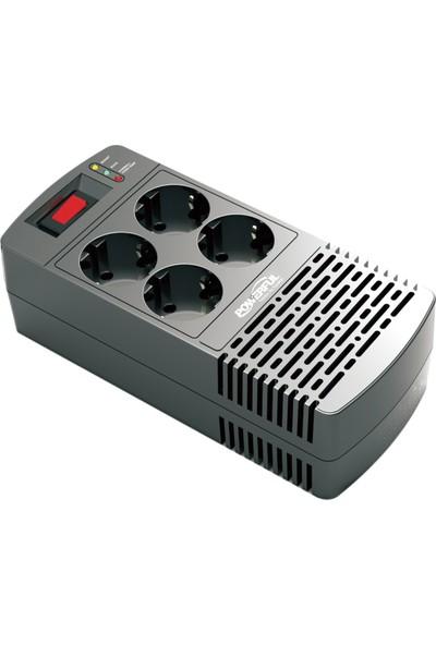 Powerful AVR-1000 1000VA (600W) Buzdolabı / Kombi / TV / Bilgisayar Voltaj Regülatörü