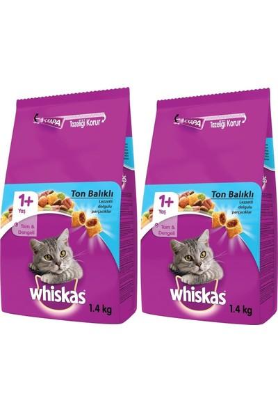 Whiskas Ton Balıklı Sebzeli Yetişkin Kuru Kedi Maması 1,4 kg x 2 Adet