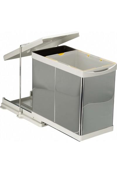 Pelikan Stelly Raylı Dolap İçi Mutfak Çöp Kovası 20+1 lt.