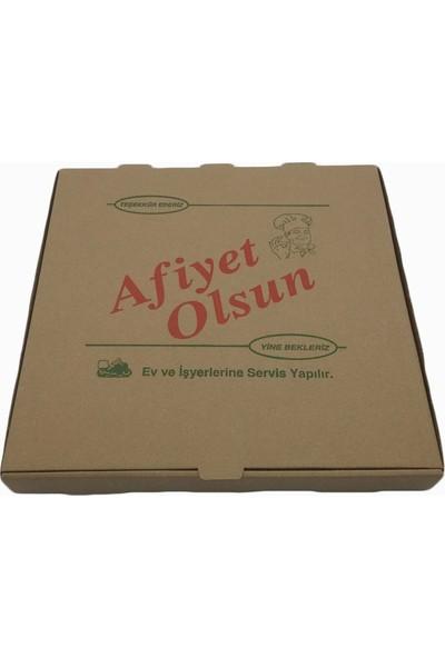 Pizza Kutusu Kraft -Kahverengi 100 'lü 40X40 cm