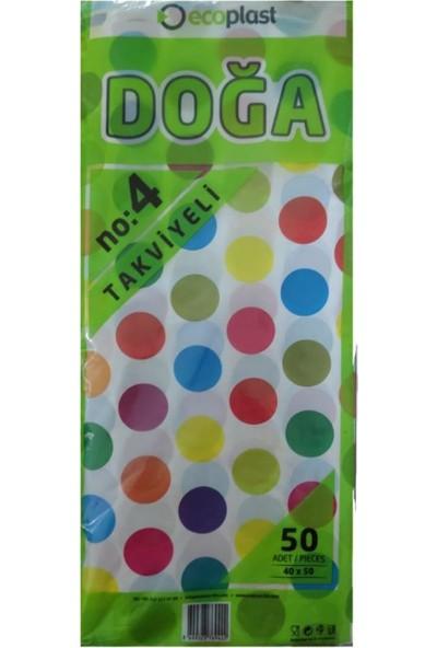 Ecoplast Takviyeli Renkli Poşet No : 4 (40X50) 50'li