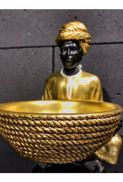 4mhome Küçük Hintli Altın Biblo