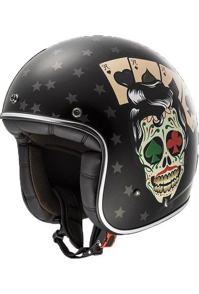 Ls2 Bobber Tattoo Açık Motosiklet Kaskı L Beden