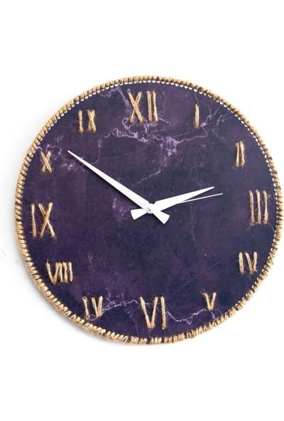 Hasır Ipli Evren Tasarımlı Mdf Saat