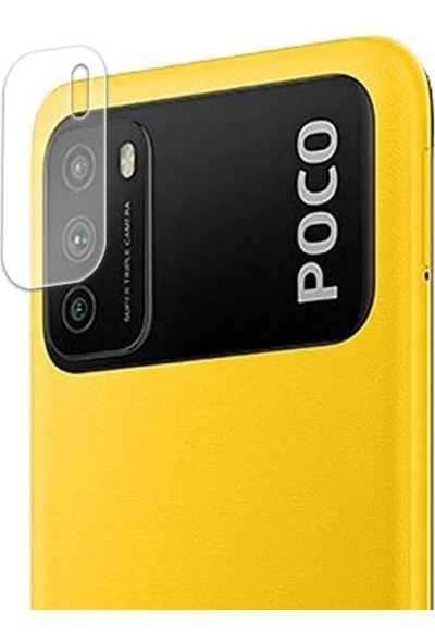 Engo Xiaomi Poco M3 Kamera Lens Koruyucu Temperli Cam