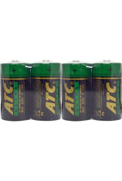 Atc Size:c Orta Boy 1,5 Volt Pil 4'lü