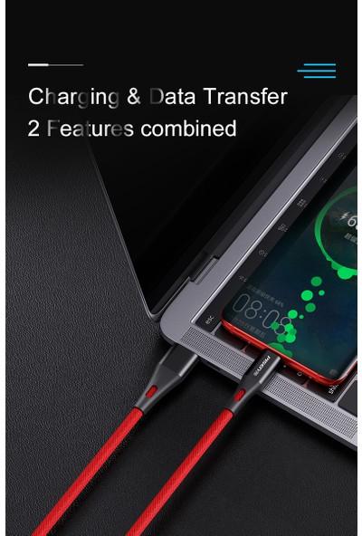 Pisen 5A Type C Şarj Data Kablosu - Kırmızı