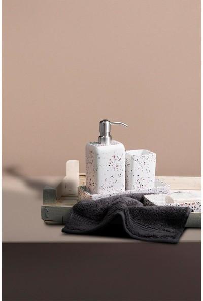 Irya Mozaik Beyaz 4 Parça Banyo Seti