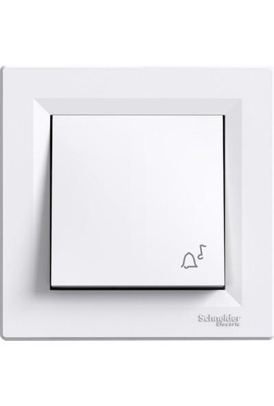 Schneider Sedna Beyaz Işıklı Liht-Zil Işaretli