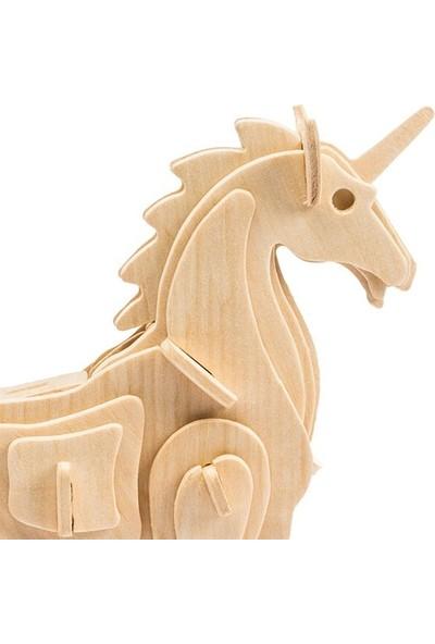 Robotime 3D Mini Ahşap Puzzle Unicorn