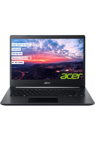 "Acer A514-53 Intel Core i3 1005G1 4GB 256GB SSD Windows 10 Home 14"" Taşınabilir Bilgisayar NX.HUNEY.001"