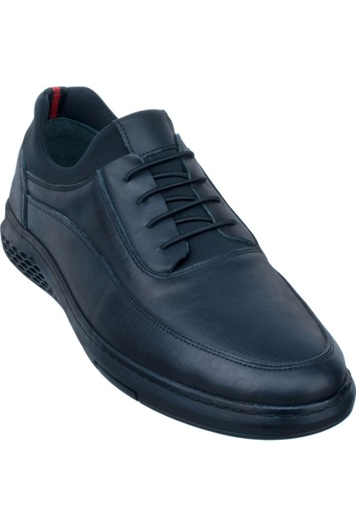 Adıgüzel Siyah Bağcık Detaylı Lastikli Günlük Erkek Ayakkabı