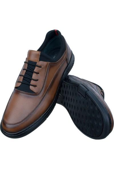 Adıgüzel Taba Bağcık Detaylı Lastikli Günlük Erkek Ayakkabı
