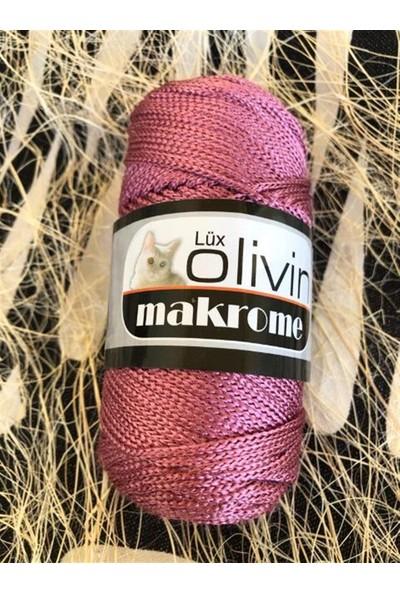 Olivin Polyester Makrome Gül Kurusu 100 Gr. Örgü Ipi